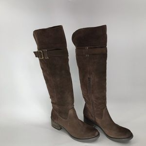 Arturo Chiang Suede Knee high Boots size 7.5